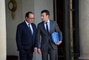 Франсуа Олланд і Еммануель Макрон