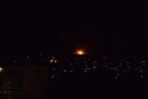 Пожежа на складах боєприпасів у Калинівці