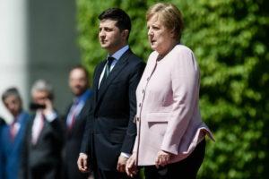 Володимир Зеленський та Ангела Меркель