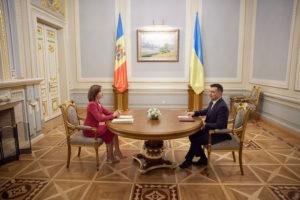 Мая Санду і Володимир Зеленський